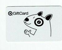 Target Gift Card Bullseye Dog in Black & White- Older 2005 - No Value -I Combine