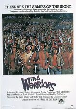 The Warriors Movie Poster * Reprint * 13 x 19