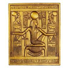 """Design Toscano Exclusive King Tutankhamen 10"""" Egyptian Temple Stele Plaque"""
