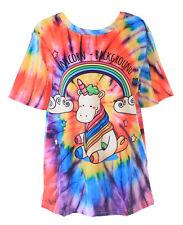 T-77 Colorato Einhorn Arcobaleno Stelle Fantasia T-Shirt Pastel Goth Carina