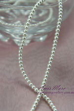 290pcs 3mm Glass Pearl White Color Round DIY Imitation Loose Pearl Beads