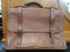 Jack Georges Women's Brown Leather Tote Bag / Laptop Carrier