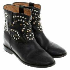 Isabel Marant, Caleen Leather Boots, black embellished studded, size 41 / UK 7
