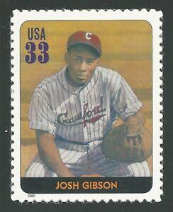 Josh Gibson Negro Leagues Baseball Black Heritage Pittsburgh Crawfords US Stamp!