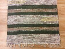 Striped Grey Black Handloomed 100% Cotton Rag RUG Durrie Mat 60x90cm 2x3 50%OF