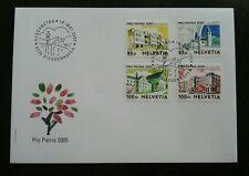 Switzerland Pro Patria Houses 2005 Building Architecture (stamp FDC)