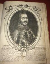 HONGRIE. COMTE MICHEL TECKEL II CHEF DES REBELLES. GRAVURE du XVIIéme.