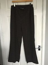 Principles by Ben de Lisi Womens Black Self Printed Wide Leg Trousers size 16