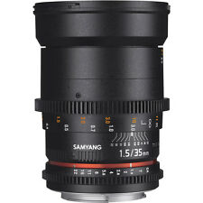 Samyang 35mm T1.5 VDSLR AS UMC II Lens in Canon Fit