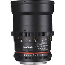 Samyang 35mm T1.5 VDSLR AS UMC II Lens in Canon Fit