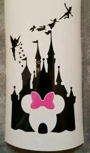 Minnie mouse castle disney wine bottle Vinyl Decal sticker.
