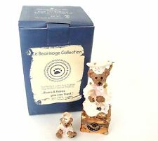 Boyds Bears Le Bearmoge Collection - Bailey The Graduate Porcelain Hinged Box