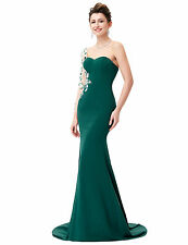 Dark Green Bridesmaid Prom Dress Long Ball Gown Formal Evening Cocktail  Dresses