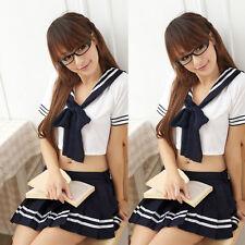 Japanese School Girl Students Sailor Lingerie Uniform Cosplay Sexy Anime Costume