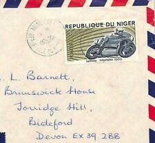 BQ199  MOTORBIKES Niger Stamp Cover 1975 *KAWASAKI 1000* Scarce Commercial Use