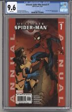 ULTIMATE SPIDER-MAN ANNUAL #1 CGC 9.6 WHITE PGS X-MEN APPEARANCE 2005
