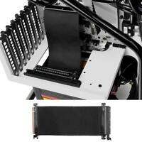 PCI Express x 16 Extender Card Flexible Cable Extension Port Adapter Riser Card