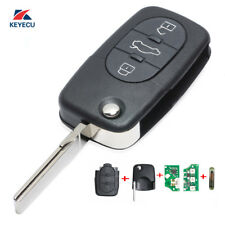 Folding Remote Key Fob 3 Button for Volkswagen Beetle Bora Passat 1J0 959 753 B