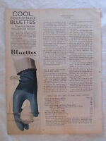 1970 Magazine Advertisement Page Bluettes Hot Water Household Gloves Vintage Ad