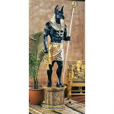 """97.5"""" Ancient Egyptian Jackal God Protector of the Palace (ANUBIS) Statue & Base"""