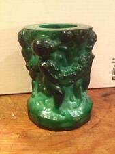 Art Deco Schlevogt green  Glass toothpick holder