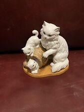 "Homco Home Interiors Porcelain Figurine Cat and Kittens ""Feline Fun"" 14522-98"