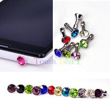 Diamond 3.5MM Anti Dust Plug Cap Stopper Cover for HTC Mobile Cell Phones 2015