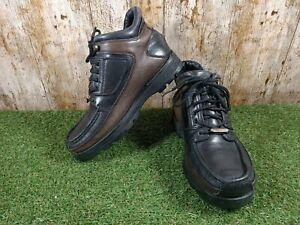 Mens Vintage rockport XCS Hydroshield Waterproof Black/Brown Leather Boots UK 8