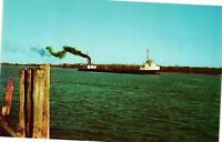Vintage Postcard - Boats & Ships - Freighter On St Clair River Michigan #2798