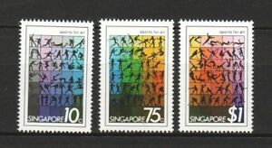 SINGAPORE 1981 SPORTS FOR ALL COMP. SET OF 3 STAMPS SC#375-377 MINT MNH UNUSED