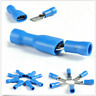 100Pcs Blue Male Female Insulated Spade Wire Crimp Terminal Cable Connector Kit