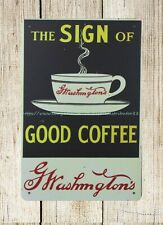 Washington's Coffee metal tin sign unframed home decor
