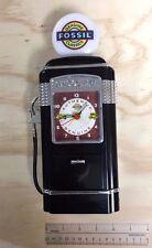 Vintage Fossil Advertising Gas Pump Talking, Singing Elvis Voice Clock Bank.