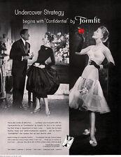 Confidential Bra Formfit PETTICOAT SLIP Undercover Strategy 1957 Magazine Ad