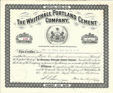Pennsylvania The Whitehall Portland Cement Co Stock Certificate 1906