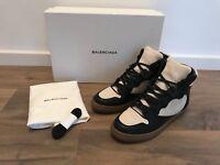 BALENCIAGA High Top Sneaker aus Leder/Canvas creme/schwarz Gr.39