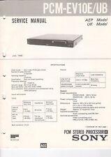 SONY - PCM-EV10E/UB - Service Manual - B2923