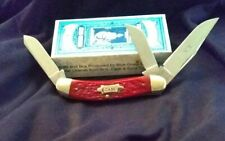 1993 W.r. Case And Sons Sow Belly Banana Antique Red Bone. MINT ONE OWNER!