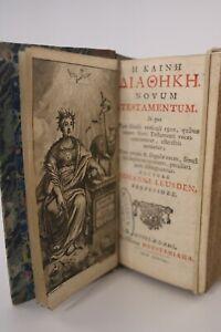 [BIBLE] LEUSDEN  Novum Testamentum (NOUVEAU TESTAMENT) texte Grec... CARTES 1701