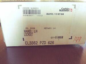 CORBIN RUSSWIN CL3362 PZD 626 Left Hand Lockset, new in box
