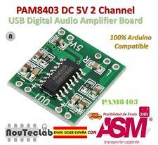 PAM8403 Audio Module Class-D Digital Amplifier Board 2.5 to 5V USB Power Supply