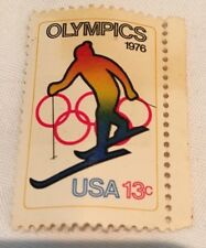 1976 WINTER OLYMPICS Downhill Skier .13c US Stamp Not Used! Rare!!!