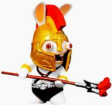 Raving Rabbids Action Figure! Rabbid Spartan Gold Helmet Trident Travel in Time