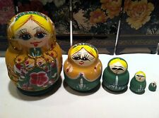 russian nesting doll Big Belly 4 inchs green Us Seller