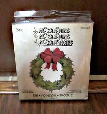SIZZIX BIGZ DIE – JIM HOLTZ ALTERATIONS -  HOLIDAY WREATH – 658264 – NEW
