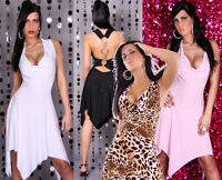 ROBE DE SOIREE COCKTAIL SALSA LATINO DRESS TOP SEXY FEMME ANNEAUX T.36/38 - S/M