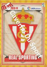 N°424 ESCUDO BADGE ECUSSON SCUDETTO # REAL SPORTING CARD PANINI MGK LIGA 2014