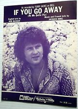 TERRY JACKS Sheet Music IF YOU GO AWAY Ne me Quitte Pas Rod McKUEN Jacques BREL