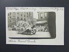 Elks Parade Auto Float Rothenberg Schloss Cigar Denver Colorado CO RPPC 1914