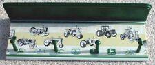 john deere green antique tractor wall shelf coat rack